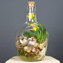 Dekorativ kar av glassflaske med kork Ø19cm H30cm