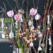 Tulipan hvit-rosa 86cm 3stk