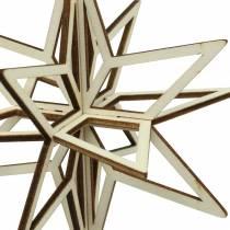 3D stjerne tre å henge 13,5 cm 6stk