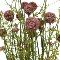 Kunstig Craspedia Fiolett Trommestokk Kunstige blomster 3stk