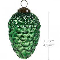 Adventsdekorasjon, dekorative kjegler, høstfrukter ekte glass, antikk utseende Ø7cm H11,5cm 6stk