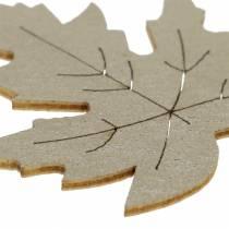 Spredt lønn etterlater gul, brun, platina assortert 4cm 72p