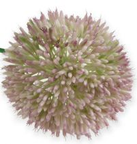 Kunstig alliumsilkeblomst grønn, rosa prydløk som kunstig blomst