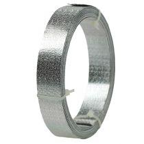 Aluminiumsbånd flat wire sølv matt 20mm 5m