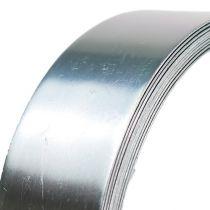 Aluminiumtråd flat wire sølv 30mm 3m