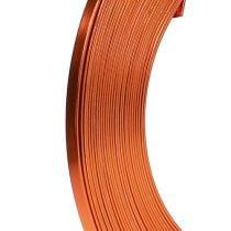 Flattråd av aluminium oransje 5mm 10m