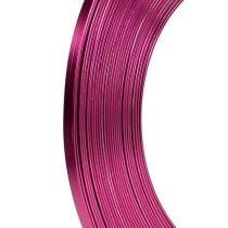 Aluminium flat wire rosa 5mm 10m