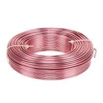 Aluminiumstråd Ø2mm 500g 60m rosa