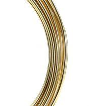 Aluminiumstråd 2mm 100g gull