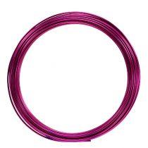 Aluminiumstråd 2mm 100g rosa