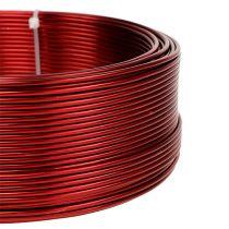Aluminiumtråd rød Ø2mm 500g (60m)