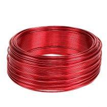 Aluminiumtråd rød Ø2mm 500g 60m
