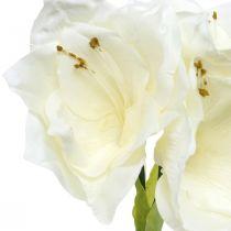 Kunstig blomst amaryllis hvit ridder stjerne juledekorasjon H40cm