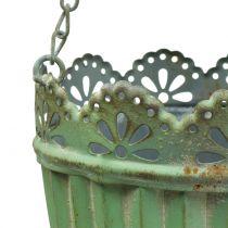 Blomsterkurv antikk grønn Ø19 / 15cm 2stk