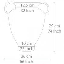 Amphora antikk utseende for planting vase metall hage dekorasjon H29cm