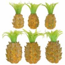 Kunstig mini ananas H6.5cm - 8cm 6stk