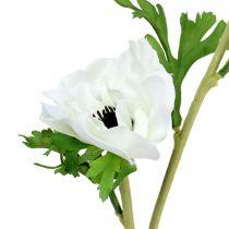 Anemone kunstig hvit 6stk