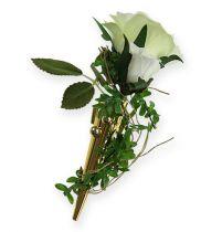 Bryllupsnål med magnet, blankt gull 7cm