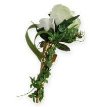 Bryllupsnål med magnet, matt gull 7cm