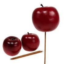 Kunstig eple rød Ø7,5cm 6stk