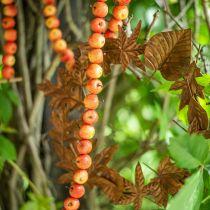 Eplekrans laget av 55 mini-epler gul-oransje 113cm