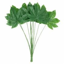Aralia blad med stilkegrønn L61,5cm 12stk
