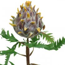 Dekorativ artisjokk lilla kunstig plante høstdekorasjon Ø7,5cm H42cm