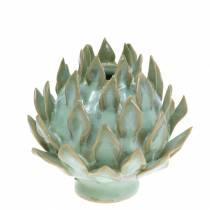 Dekovase Artikschocke keramisk grønn Ø9,5cm H9cm