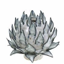 Dekovase Artikschocke keramisk blå, hvit Ø9,5cm H9cm