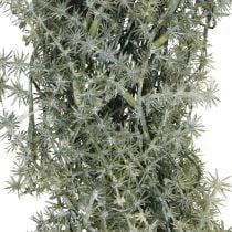 Dekorativ aspargeskrans kunstig asparges hvit, grå Ø32cm