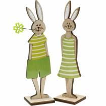 Påskehare stativ grønn kanintre Påskedekorasjon 4stk