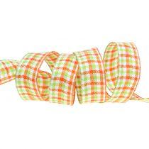 Sjekk bånd grønt / oransje 25mm 15m