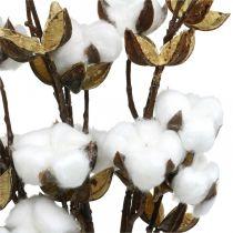 Bomullskvist Kunstig dekorativ kvist bomull 61cm 3stk