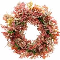 Kunstige blomster krans lyngkrans rosa silkeblomster