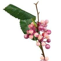 Bærgren kunstig rosa-lilla 64cm 6stk
