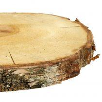 Bjørkeskive naturlig Ø30cm - 35cm