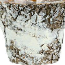 Bjørkekanne mini hvit Ø7cm H7cm