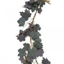 Dekorative kransbladblad og druer høstkrans 180cm