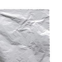 Metallbladblad sølv 100p