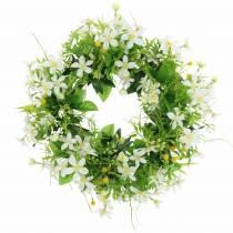 Kransanemone / dillgrønn, hvit Ø30cm