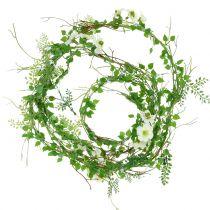Blomsterkrans hvit 180cm