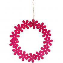 Blomsterkrans i rosa Ø35cm 1p