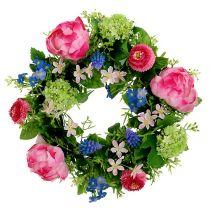 Blomsterkranspioner, Bellis Ø30cm rosa