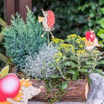 Blomstnåls pinnsvin, trepynt, høstfigur H9,5cm L32cm 12stk