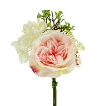 Bukett mini rosa-krem 20cm