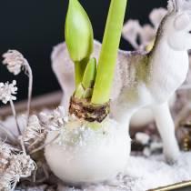Blomsterdypevoks 1 kg hvit