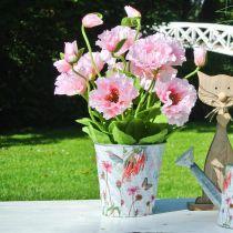 Blomsterpotte metall blomster vårdekorasjon planter Ø15cm H15,5cm