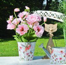 Blomsterpotte metall solhatter vårdekorasjon planter Ø11,5cm H10,5cm