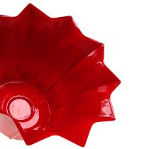 Blomsterpotte plast rød Ø10,5cm 10stk