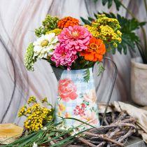 Blomstervase deco krukke metall vintage hage dekorasjon planter H23cm